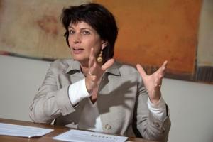 . Doris Leuthard, conseillère fédérale. Cheffe du Départemen