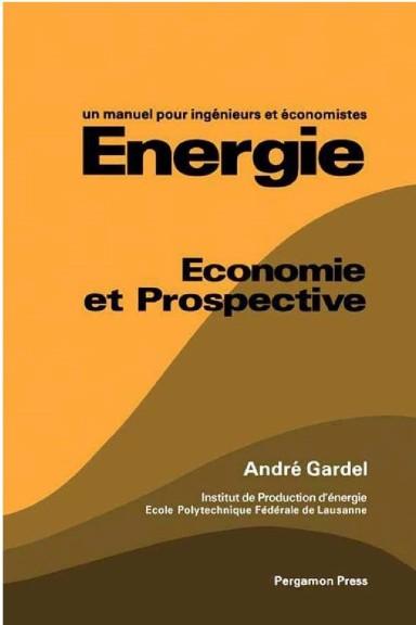 Energie économie et prospective A. Gardel 1979 p. couverture